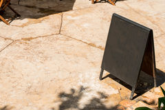 Blank outdoor chalkboard stand Stock Photography