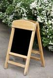Blank outdoor menu board Royalty Free Stock Photo