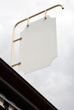 Blank outdoor sign Stock Image