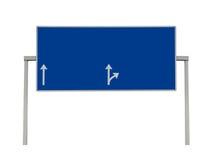 Blank overhead sign highway isolated. Blank overhead sign on highway isolated Royalty Free Stock Photo