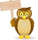 blank owlsignboard Royaltyfri Foto