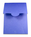 Blank package of blue box isolated Royalty Free Stock Photo
