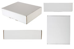 Blank Packaging Box. Shot from every site, isolated over white background. Good for your design royalty free stock photos