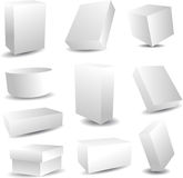 Blank packaging boxes Stock Photos