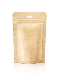 Blank packaging recycle kraft paper pouch isolated on white Royalty Free Stock Image