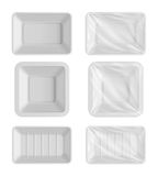 Blank packaging template mockup food container Stock Image