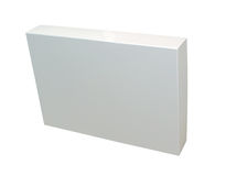 Blank packaging w/ path. Blank box isoalated on white with a clipping path (Insert your own design or content Stock Image