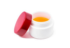 Blank packaging white cosmetic cream pot Royalty Free Stock Image