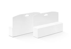 Blank packaging white paper cardboard box for cosmetic product Royalty Free Stock Photography