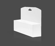 Blank packaging white paper cardboard box for cosmetic product Royalty Free Stock Photos