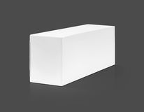 Blank packaging white paper cardboard box. Isolated on gray background with clipping path stock photo