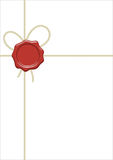 Blank  packet with cord and wax seal Stock Images