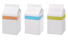 Blank packs of drinks Royalty Free Stock Photo