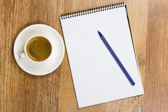 Blank Pad Of Paper Royalty Free Stock Photos