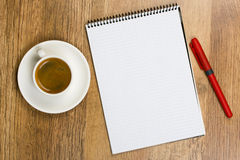 Blank Pad of Paper Royalty Free Stock Image