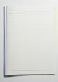 Blank page. White blank lined paper page of notebook Stock Photography