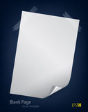 Blank page Royalty Free Stock Photo