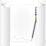 Blank page. In paper roll by illustrations Royalty Free Stock Photo