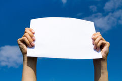 Blank page Stock Images