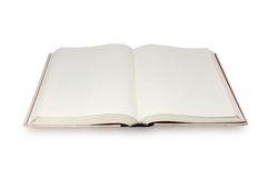 Blank page book Stock Photos