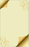 Blank page corner curl. Vector illustration of light yellow blank page with corner curl Stock Photos