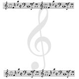 Blank page created with music notes Royalty Free Stock Photo