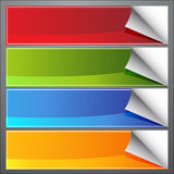 Blank Page Curl Banners Stock Photos