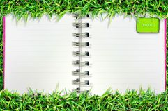 Blank page on grass Royalty Free Stock Photos