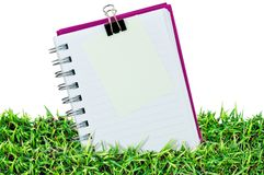 Blank page on grass Stock Photography