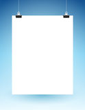 Blank Page Hanging on Strings Stock Photos