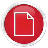 Blank page icon premium red round button Royalty Free Stock Photography