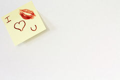 Blank page with love message Royalty Free Stock Images