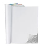 Blank page of magazine stock photos