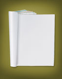 Blank page of magazine Stock Image