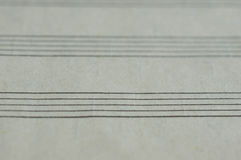 Blank page in a music book. Close up Stock Photos