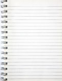 A blank page of an notebook. Royalty Free Stock Photos