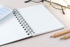 Blank page notebook in business concept.  Royalty Free Stock Photo