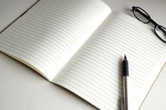 Blank page notebook paper Royalty Free Stock Photo