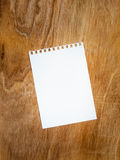 Blank page of a notebook Royalty Free Stock Image