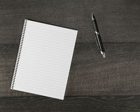 Blank page in the notebook Royalty Free Stock Photography