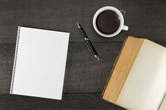 Blank page in the notebook Stock Photo