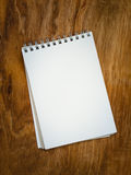 Blank page from a notebook Stock Photos