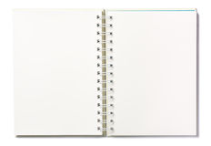 Blank page notebook in White background. Open Blank page notebook in White background isolated royalty free stock photography