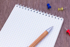 Blank page notepad Stock Image