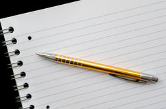 Blank page an a pen Stock Image
