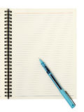 Blank page with pen Stock Images