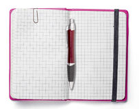 Blank page of pink note book Stock Image