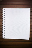 Blank page with row on grunge wood Stock Images