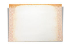 Blank page of scrap book,  on white background Royalty Free Stock Photos
