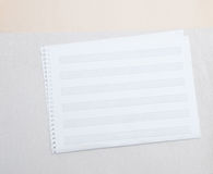A blank page of sheet music with ruled hand drawn lines Royalty Free Stock Photo